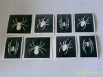 10 - 100 Spider mixed stencils for glitter tattoos / airbrush / face painting / cakes  Halloween spooky
